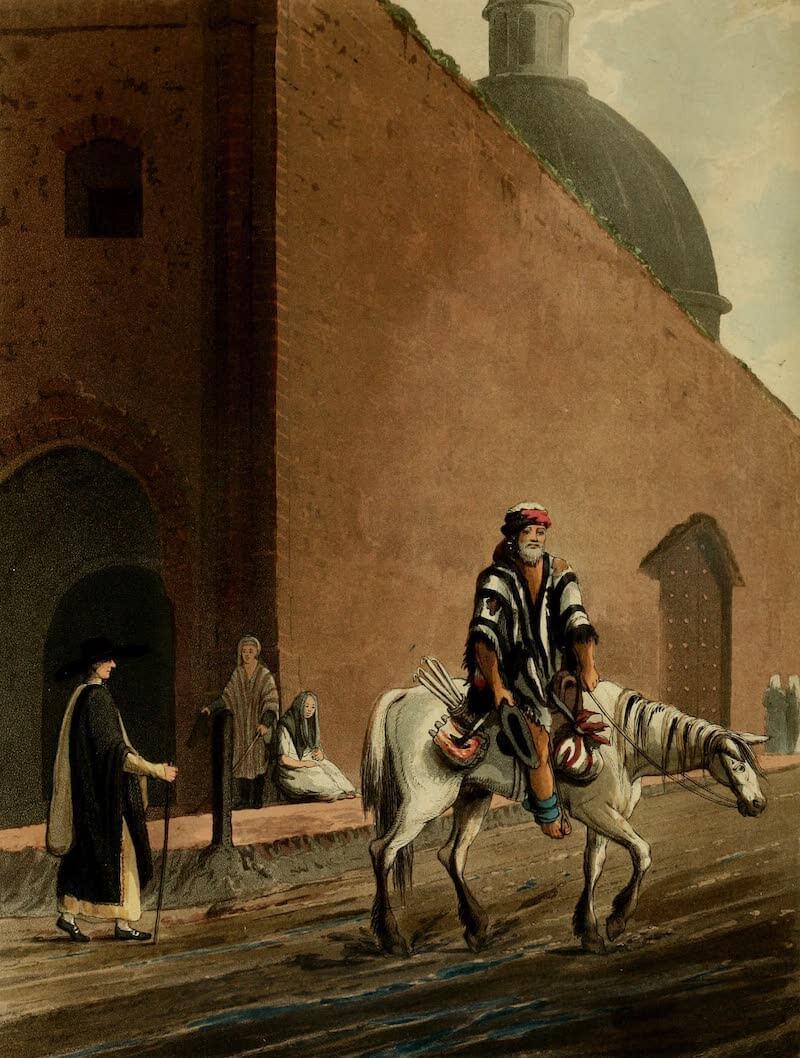 Picturesque Buenos Ayres & Monte Video - Beggar on Horseback (1820)