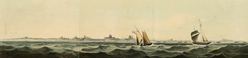 Picturesque Buenos Ayres & Monte Video - Buenos Ayres from the Bank Between the Outer and Inner Roads (1820)