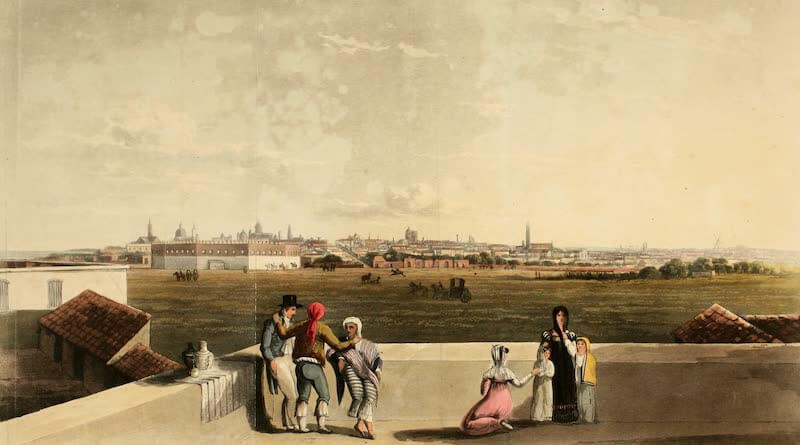 Picturesque Buenos Ayres & Monte Video - General View of Buenos Ayres from the Plaza de Toros (1820)