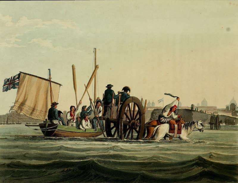 Picturesque Buenos Ayres & Monte Video - Landing Place (1820)