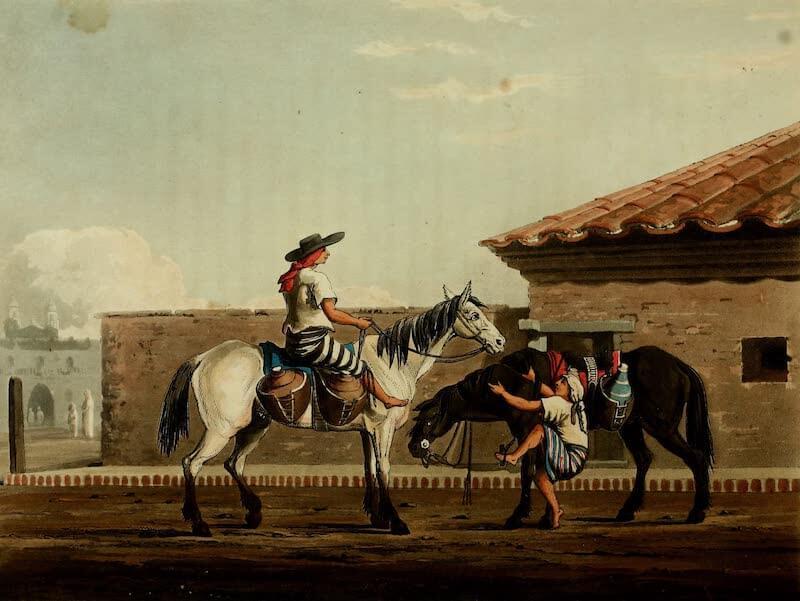 Picturesque Buenos Ayres & Monte Video - Milk Boys (1820)