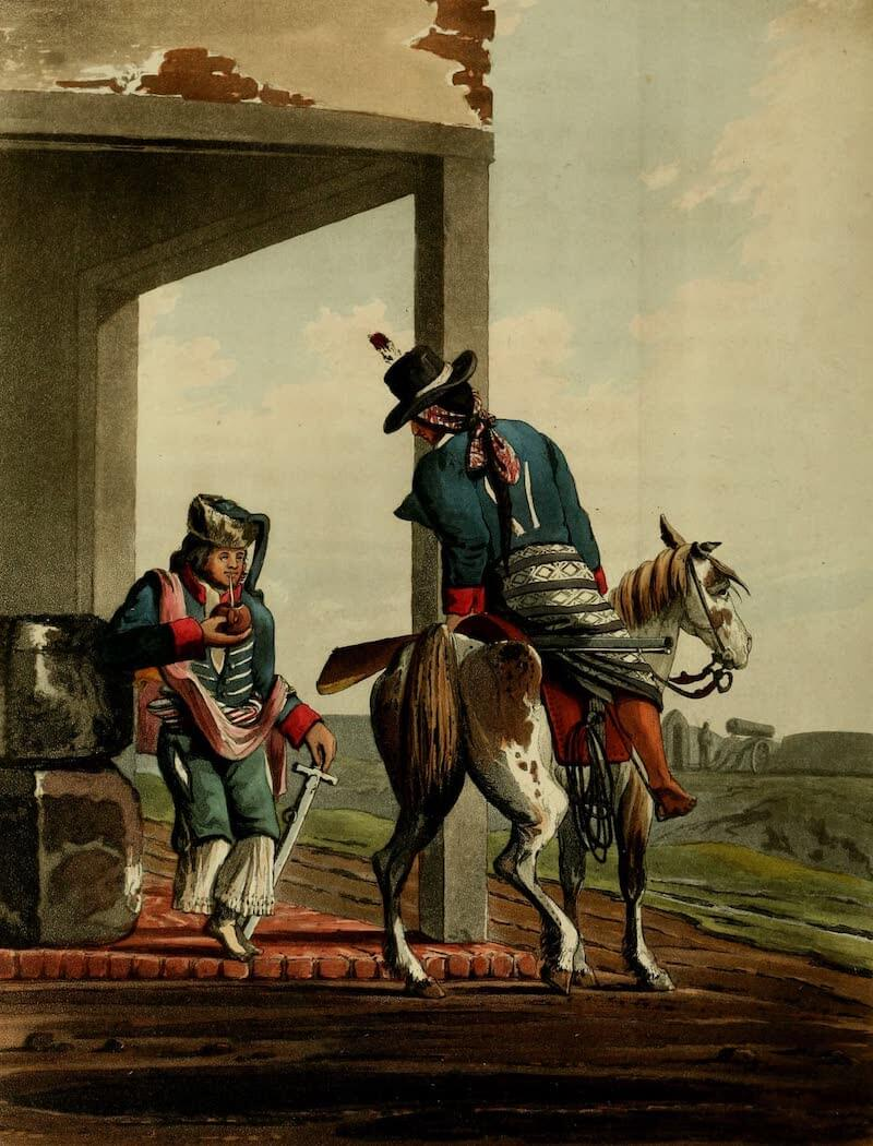 Picturesque Buenos Ayres & Monte Video - Paolistas, Soldiers of the East Bank of the Plata (1820)