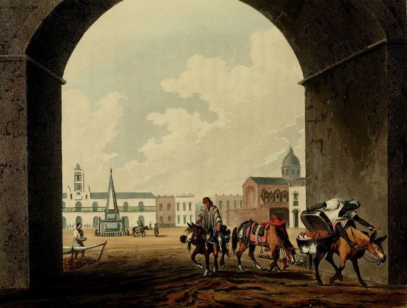 Picturesque Buenos Ayres & Monte Video - Plaza (1820)