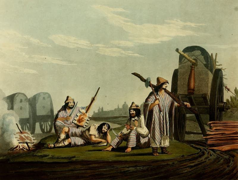 Picturesque Buenos Ayres & Monte Video - Travellers at a Pulperia (1820)