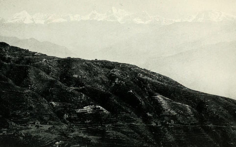 Picturesque Nepal - The Range of Himalayan Snows seen from the Valley of Nepal (1912)