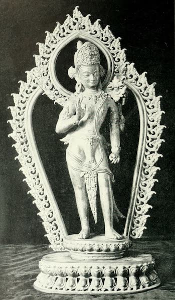 Picturesque Nepal - Statuette in Copper-gilt of Maitreya, the Coming Buddha (1912)