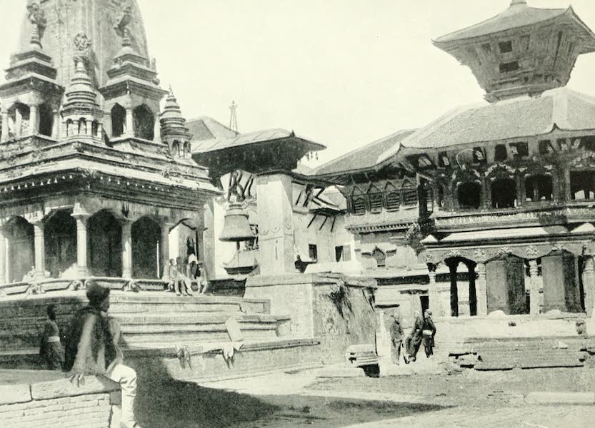 Picturesque Nepal - A Temple in Bhatgaon (1912)