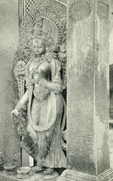 "Picturesque Nepal - Copper-gilt Figure of ""Tara"" at Shambu-Nath (1912)"