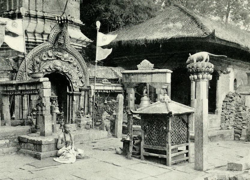 Picturesque Nepal - Entrance to the Temple of Ganeshthan, near Bhatgaon (1912)