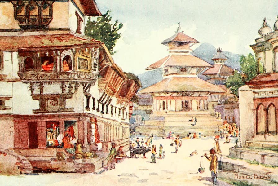 Picturesque Nepal - The Main Street of Katmandu (1912)