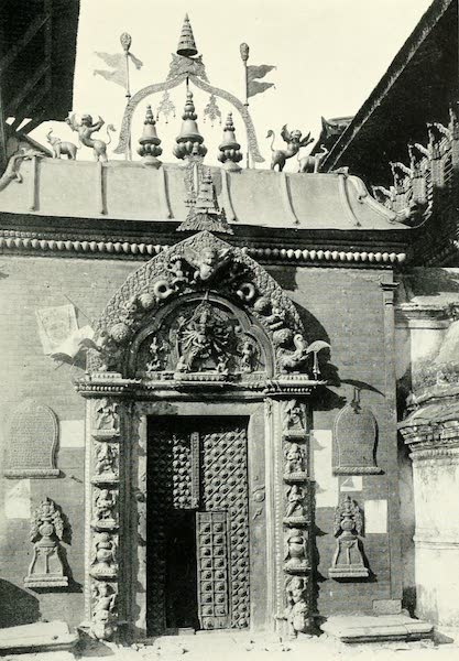 Picturesque Nepal - The Golden Gate of the Durbar Hill, Bhatgaon (1912)