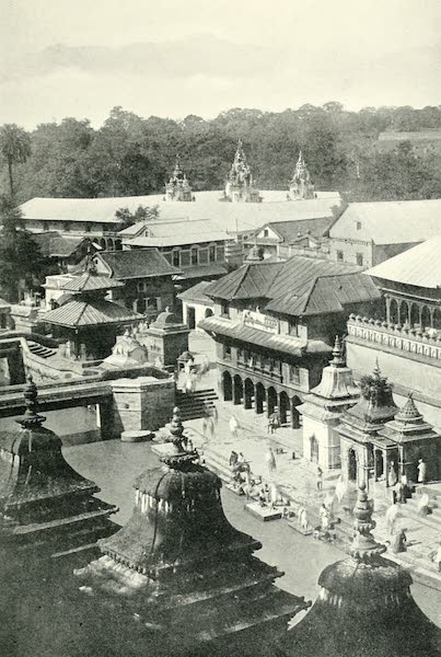 """Picturesque Nepal - General View of Pashpatti, the """"Place of the Dead"""" (1912)"""