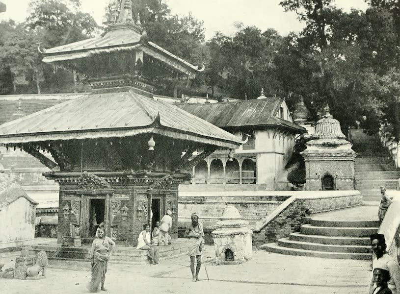 Picturesque Nepal - A Picturesque Corner, Pashpatti (1912)