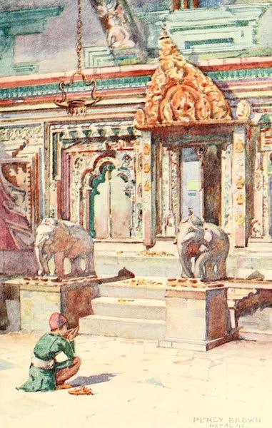 Picturesque Nepal - Doorway to Shrine of the Changu-Narain Temple (1912)