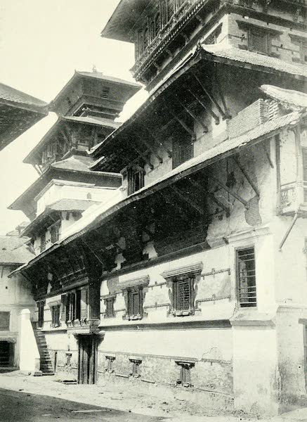 Picturesque Nepal - The Back of the Durbar at Katmandu (1912)