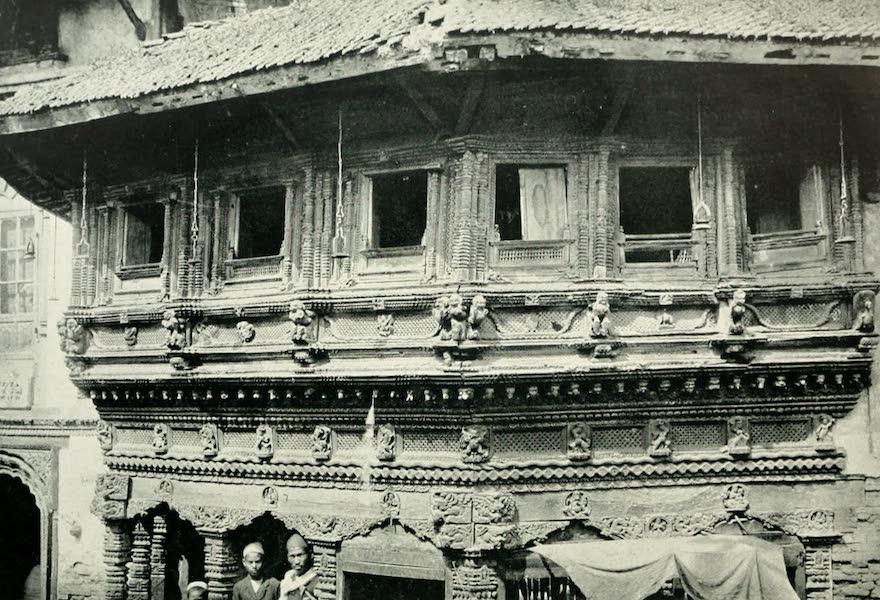 Picturesque Nepal - Elaborate Woodwork in the Main Street of Katmandu (1912)