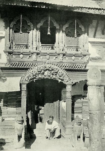 Picturesque Nepal - Entrance to a Temple in Katmandu (1912)