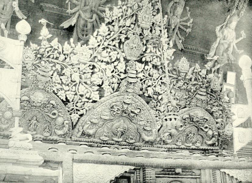 Picturesque Nepal - Metal Work on a Temple Front at Katmandu (1912)