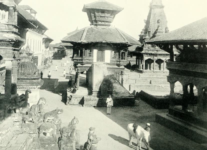 Picturesque Nepal - In the Durbar Square at Bhatgaon (1912)