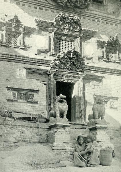 Picturesque Nepal - Doorway of a Small Temple at Bhatgaon (1912)