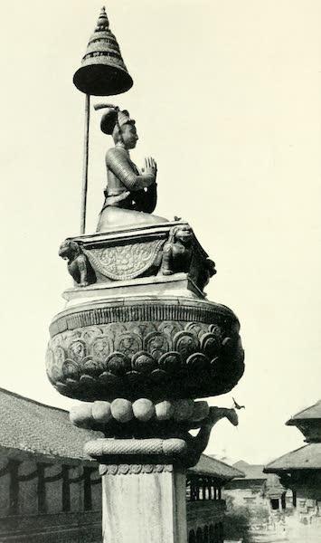 Picturesque Nepal - Metal Statue of Raja Bhupatindra Mall, Durbar Square, Bhatgaon (1912)