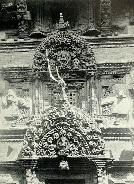 Picturesque Nepal - Elaborate Wood-carving on Bhairan Temple at Bhatgaon (1912)