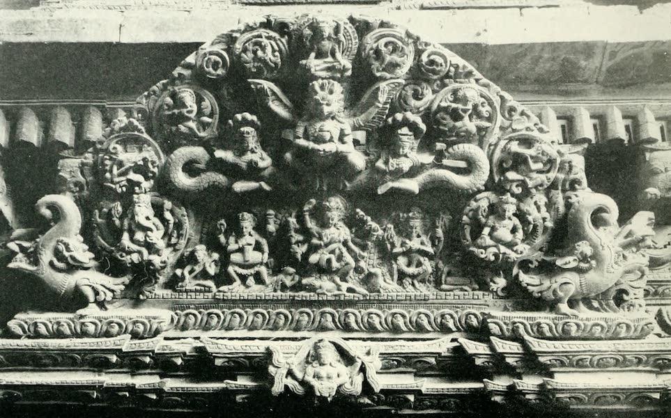 Picturesque Nepal - Wood-carving over a Doorway in Katmandu (1912)