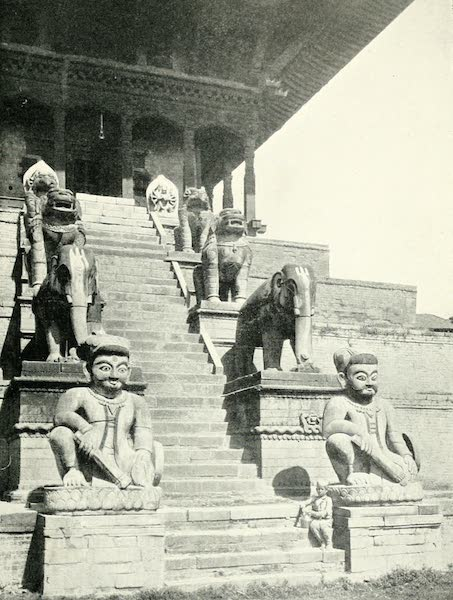 Picturesque Nepal - Steps of the Nvatpola Deval, or the Temple of the Five Stages, at Bhatgaon (1912)