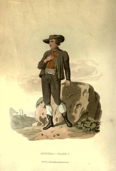 Picturesque Representations of the Austrians - A Peasant of Upper Austria (1814)