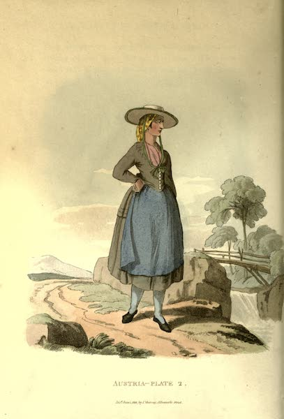 Picturesque Representations of the Austrians - A Countrywoman of Upper Austria (1814)