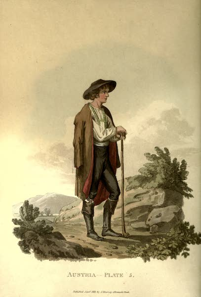 Picturesque Representations of the Austrians - A Peasant of Upper Carniola in his Summer Dress (1814)
