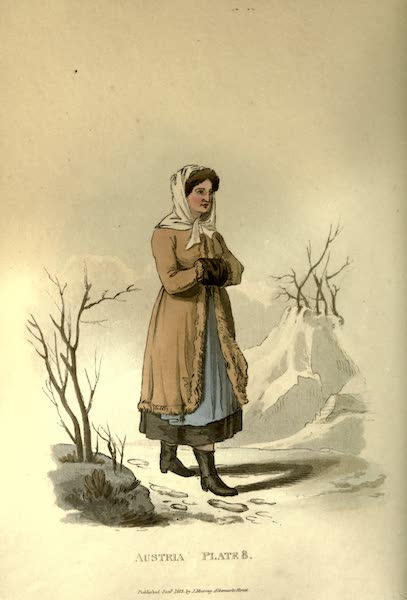 Picturesque Representations of the Austrians - A Peasant of Upper Carniola in his Winter Dress (1814)