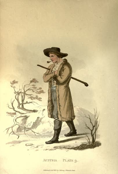 Picturesque Representations of the Austrians - A Countrywoman of Upper Carniola in her Winter Dress (1814)
