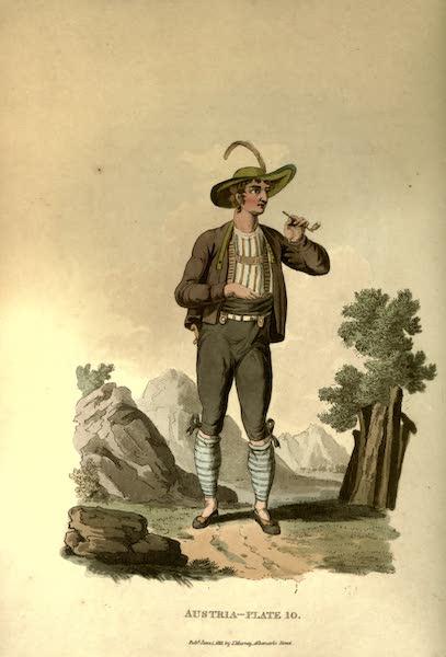 Picturesque Representations of the Austrians - A Tyrolian Wrestler (1814)