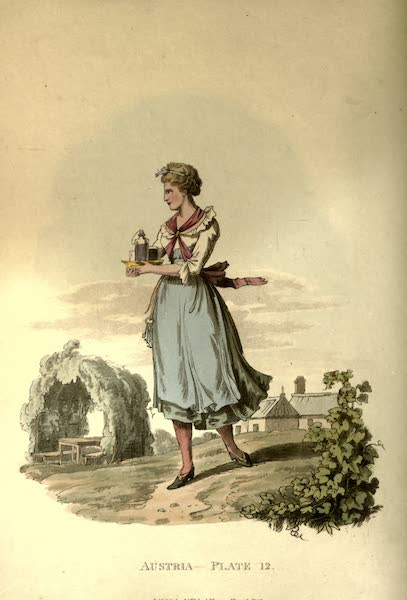 Picturesque Representations of the Austrians - A Servant Maid of an Inn at Inspruck (1814)