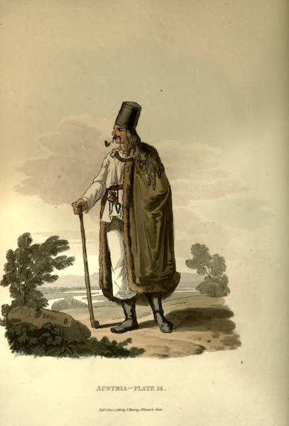 Picturesque Representations of the Austrians - A Hungarian Peasant (1814)