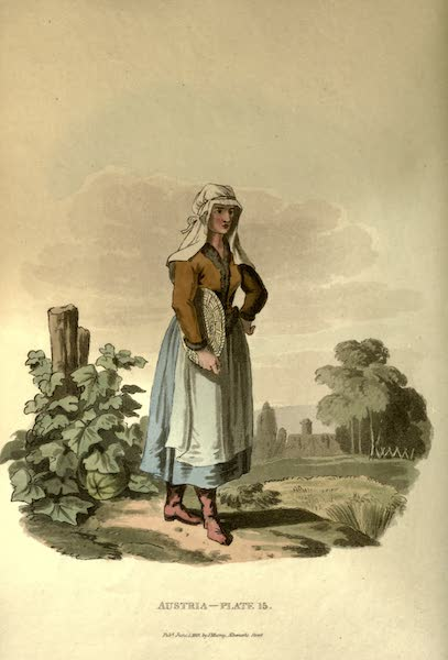 Picturesque Representations of the Austrians - A Hungarian Countrywoman (1814)