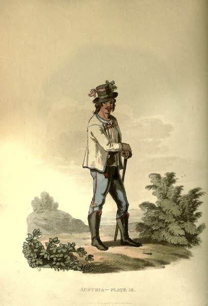 Picturesque Representations of the Austrians - A Sclavonian Peasant of the County of Neutra, or Neytra (1814)