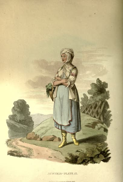 Picturesque Representations of the Austrians - A Sclavonian Country Girl, of the County of Neutra (1814)