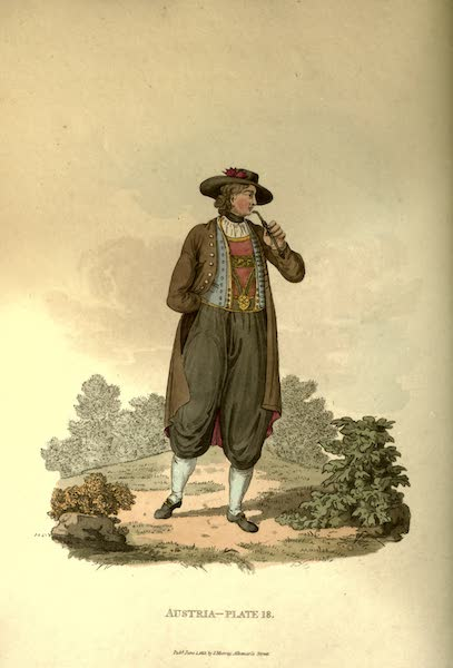 Picturesque Representations of the Austrians - A Young Peasant of Egra in his Winter Clothes (1814)