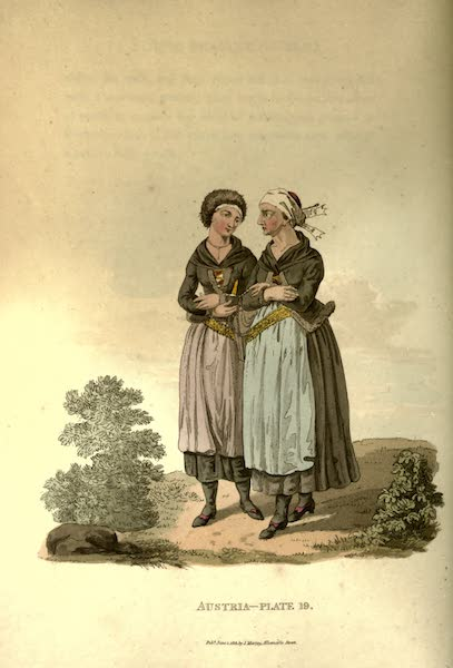 Picturesque Representations of the Austrians - A Woman and Girl of Egra in their Winter Clothes (1814)