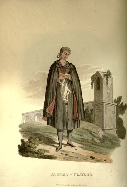 Picturesque Representations of the Austrians - A Young Bride of Egra in her Wedding Clothes (1814)
