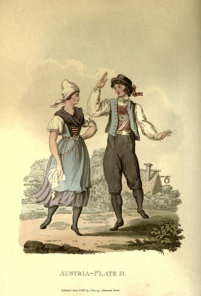 Picturesque Representations of the Austrians - Peasants of Egra in their Summer Clothes (1814)