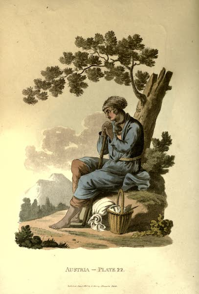 Picturesque Representations of the Austrians - A Bohemian Serf (1814)