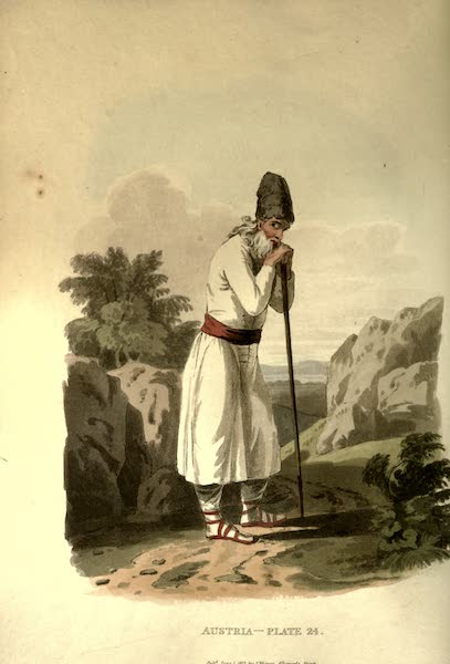 Picturesque Representations of the Austrians - A Peasant of Flipovan, in the Bukowine (1814)