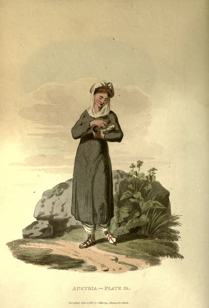 Picturesque Representations of the Austrians - A Countrywoman of Flipovan, in the Bukowine (1814)