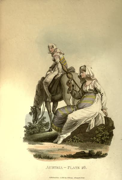 Picturesque Representations of the Austrians - Countrywomen of the Neighbourhood of Hermenstadt, in Transylvania (1814)