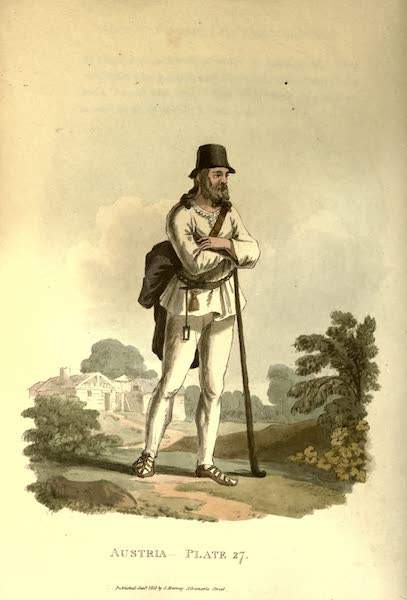 Picturesque Representations of the Austrians - A Peasant of the Neighbourhood of Hermenstadt, in Transylvania (1814)