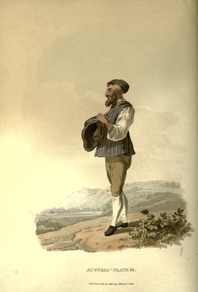 Picturesque Representations of the Austrians - A Jew of Montgatz in his Summer Dress (1814)
