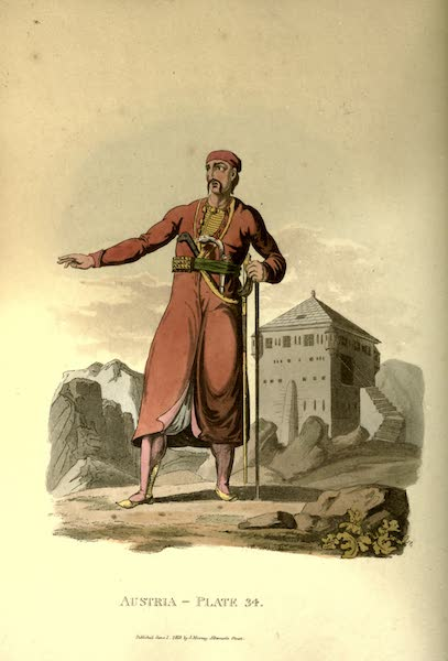 Picturesque Representations of the Austrians - A Zouppanese Count, of the Country of Cattaro, in Dalmatia (1814)
